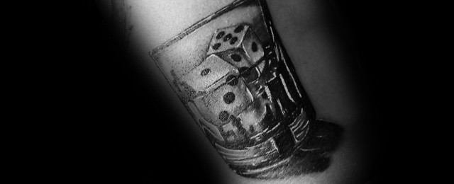 Shot Glass Tattoo Ideas For Men