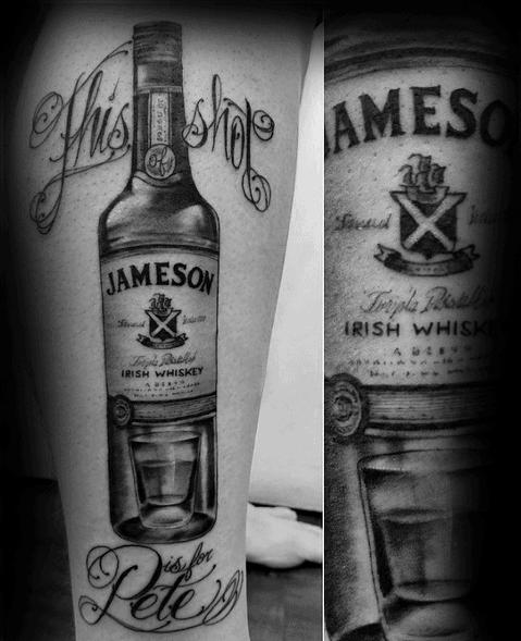 Shot Glass Tattoos For Men