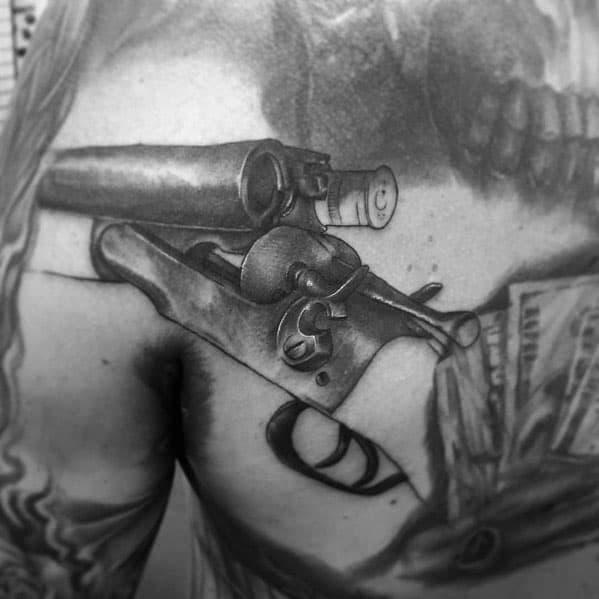 80 Shotgun Tattoo Ideas For Men - Firearm Designs