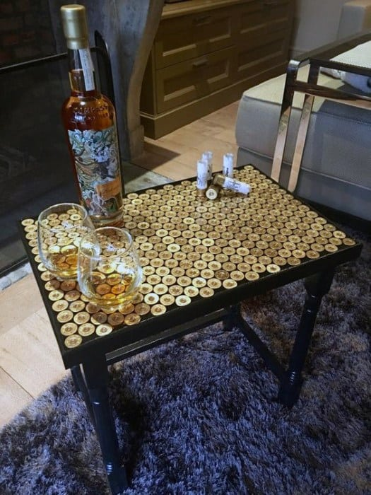Shotgun Shell Cheap Man Cave Ideas Coffee Table