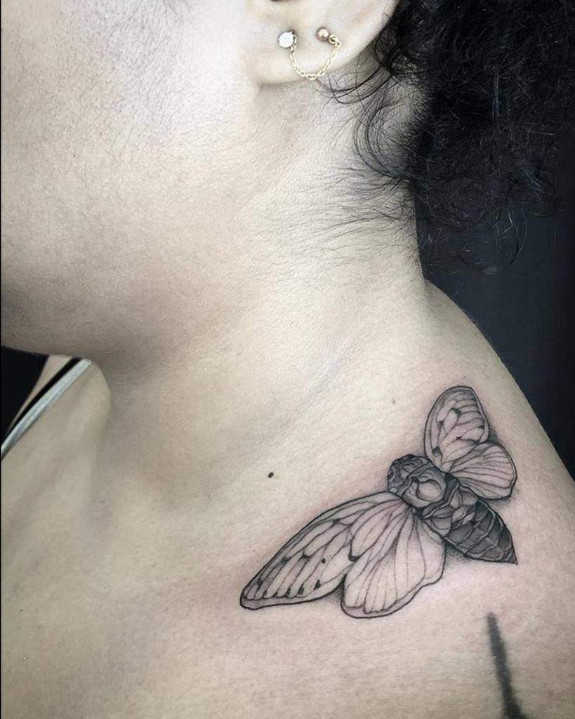 shoulder Cicada Tattoos emilyeffler