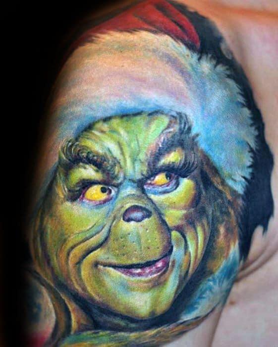 30 grinch tattoos for men dr seuss design ideas