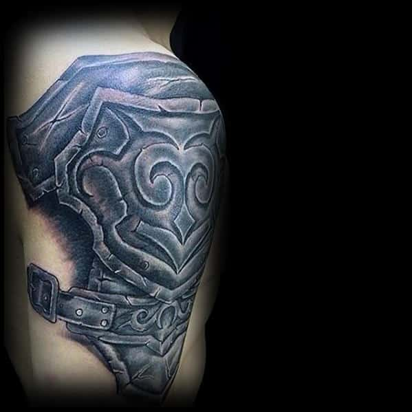 Shoulder And Arm Mens Battle Armor Mens 3d Tribal Tattoos