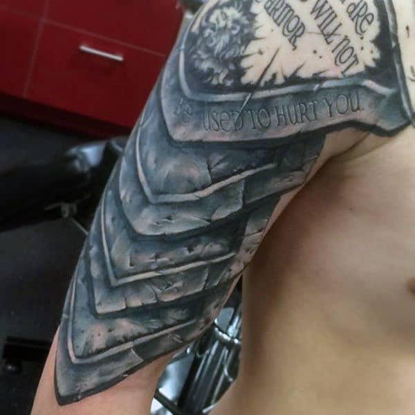 Shoulder Armor Tattoo Men