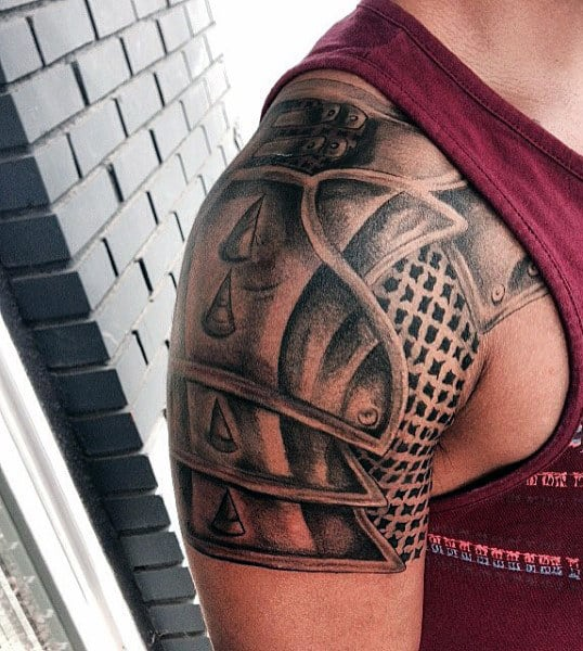 Top 90 Best Armor Tattoo Designs For Men