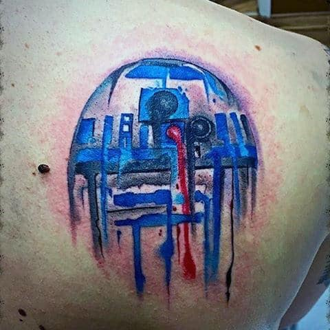 Shoulder Blade Male Rd2d Watercolor Tattoo Ideas