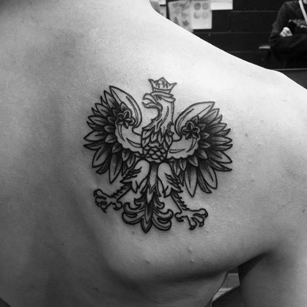 Shoulder Blade Polish Eagle Tattoo Design Ideas For Guys