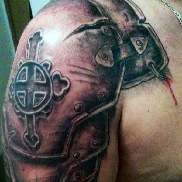 Shoulder Cross Tattoo For Men