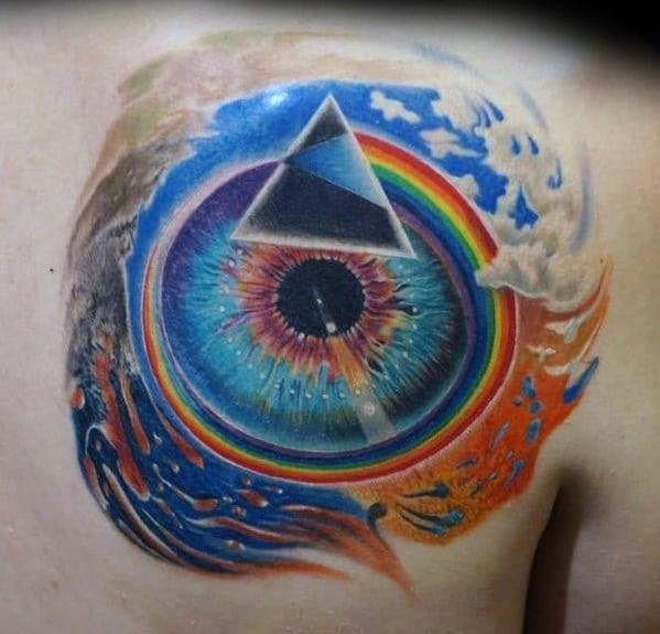 Shoulder Eye Cool Male Pink Floyd Tattoo Designs