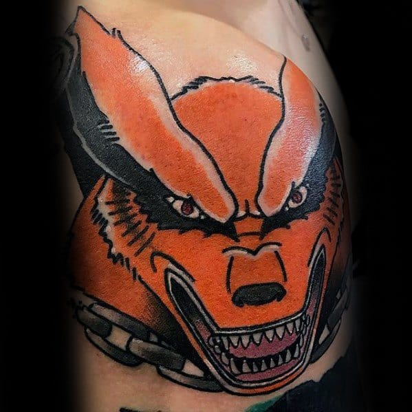 Shoulder Fox Naruto Male Tattoo Ideas
