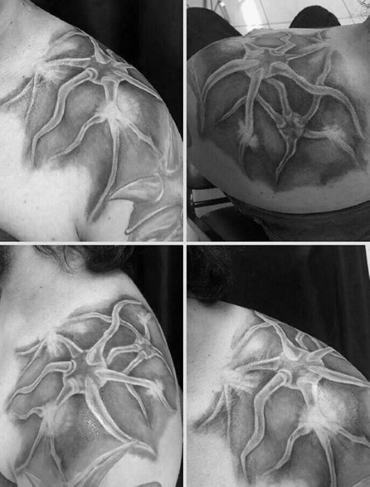 Shoulder Male Neuron Tattoo Design Inspiration