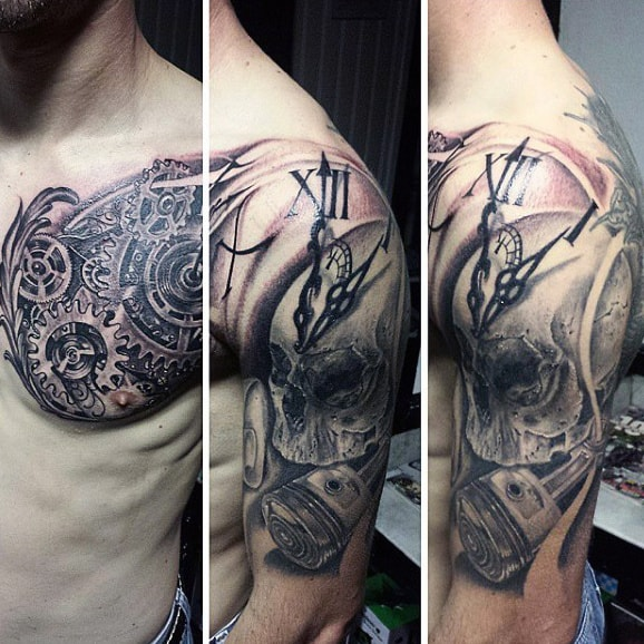 Shoulder Men's Pistons Tattoo