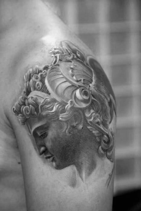 Shoulder Perseus Male Tattoos