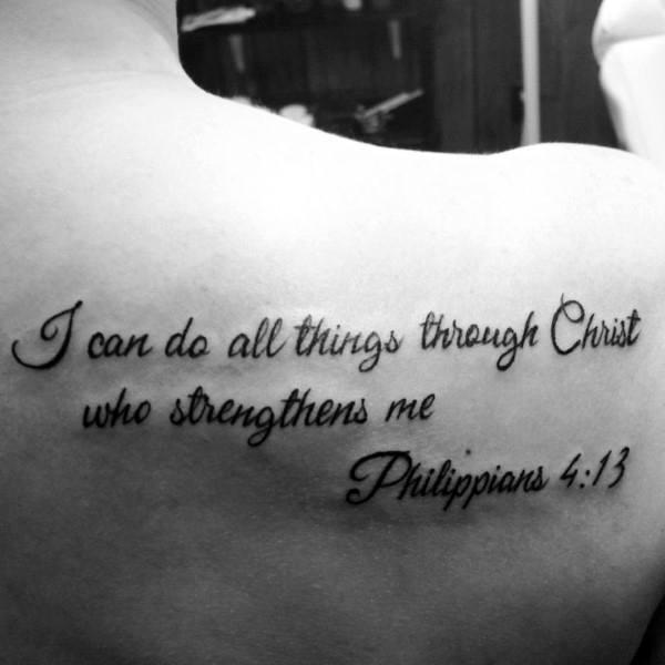 Shoulder Philippians 4 13 Male Tattoos