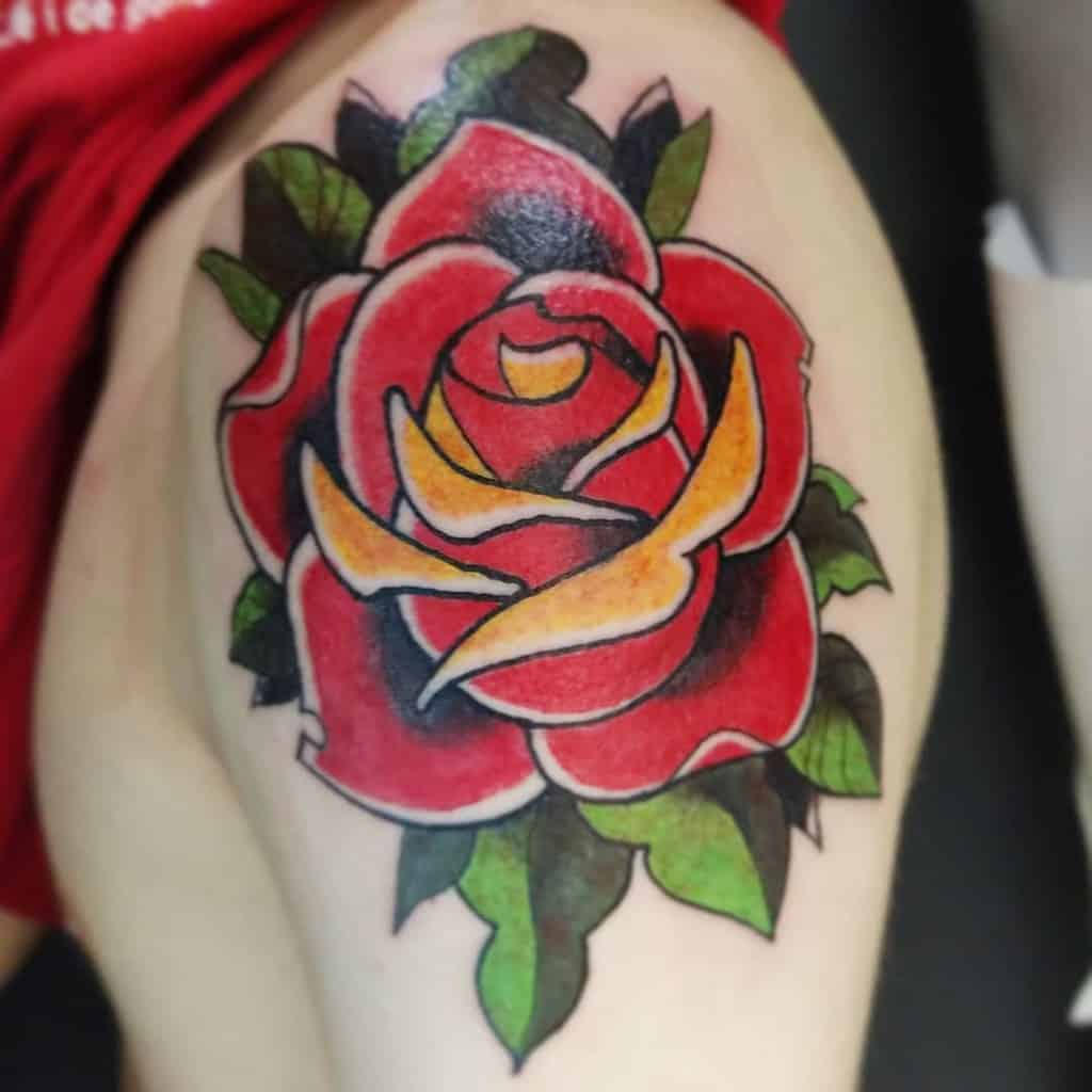 shoulder red rose tattoos alex_kamacho_