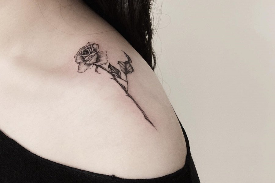 Top 67 Best Rose with Stem Tattoo Ideas – [2020 Inspiration Guide]