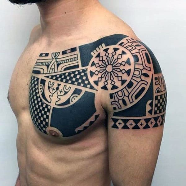 Shoulder Tribal Male Tattoos