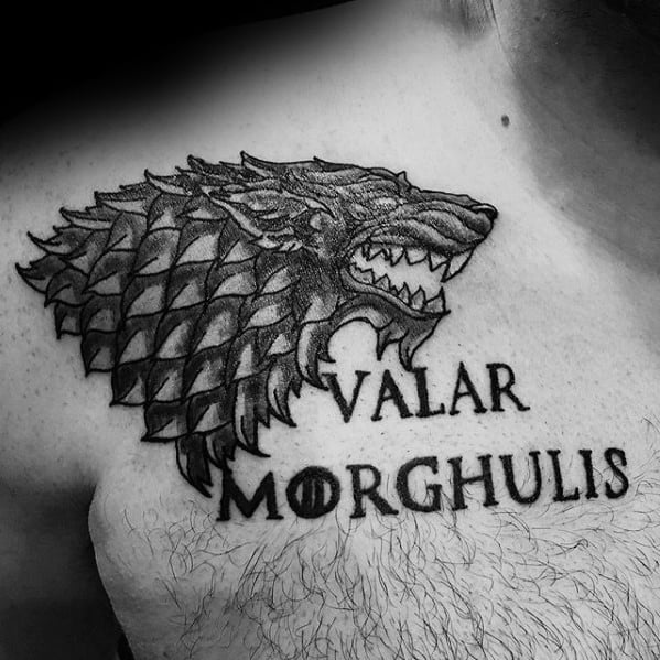 Shoulder Wolf Game Of Thrones Guys Tattoo Designs
