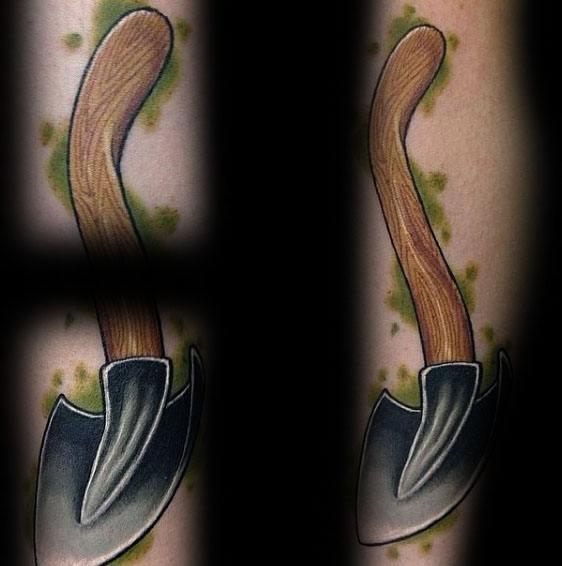 Shovel Tattoo Designs For Men