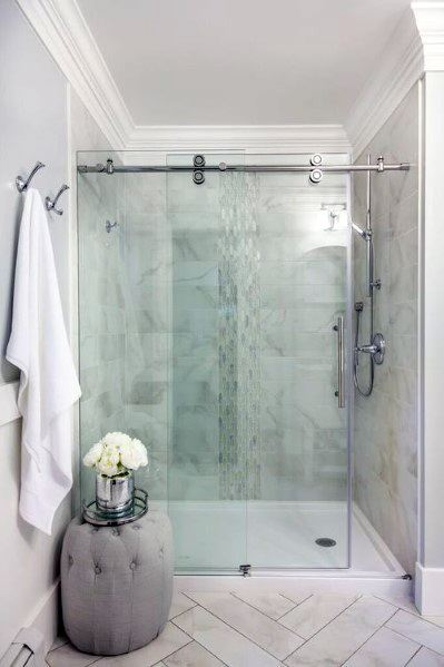 Shower Bathroom Crown Molding Ideas