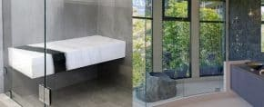 Top 50 Best Shower Bench Ideas – Relaxing Bathroom Seat Designs