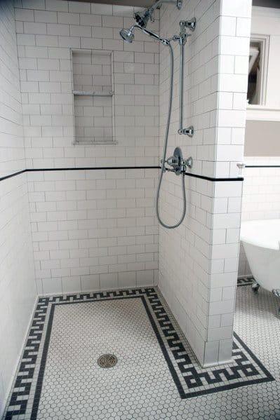Shower Floor Tile Design Idea Inspiration