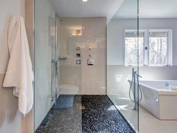 Top 50 Best Shower Floor Tile Ideas Bathroom Flooring