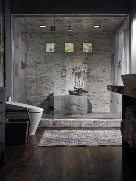 Shower Lighting Master Bathroom Design
