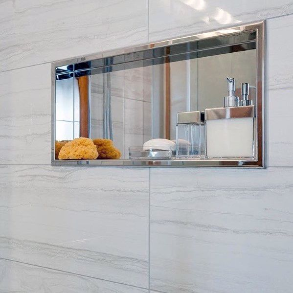 Shower Niche Bathroom Design Polished Stainless Steel Chrome