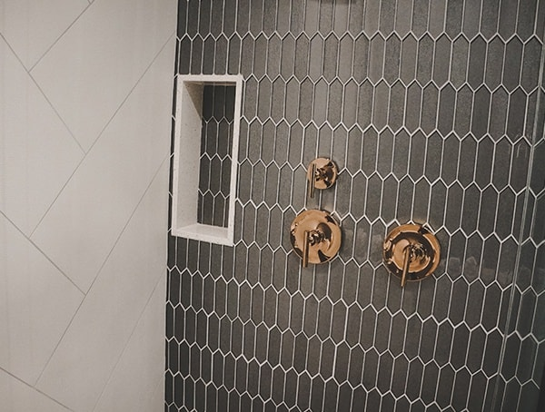 Shower Tile Design Wall With Bronze Fixtures Las Vegas Nevada 2019 New American Home