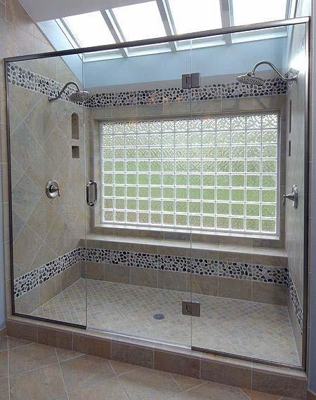 Shower Window Home Interior Designs Glass Block
