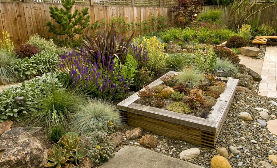 Decorative Landscaping Rocks In Metal Grid Containers