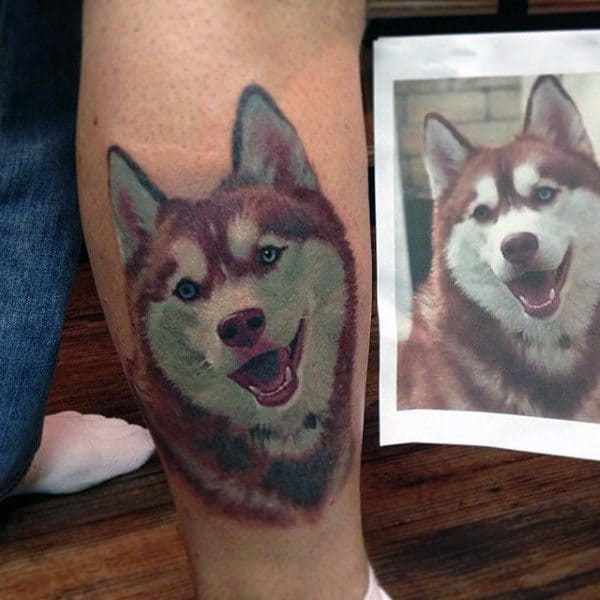 Siberian Husky Guys Tattoo Designs