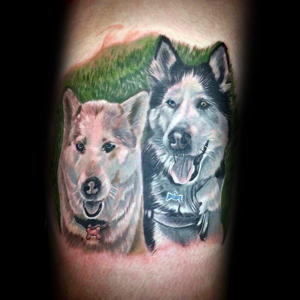 Siberian Husky Male Tattoos