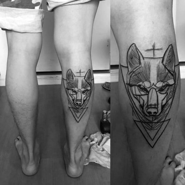 Siberian Husky Tattoo For Males