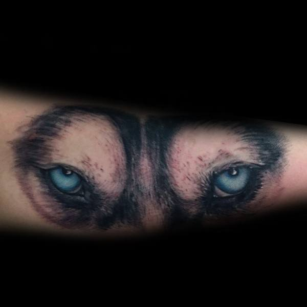 Siberian Husky Tattoo Ideas For Men