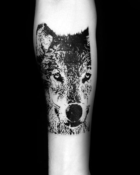 Siberian Husky Tattoo Inspiration For Men