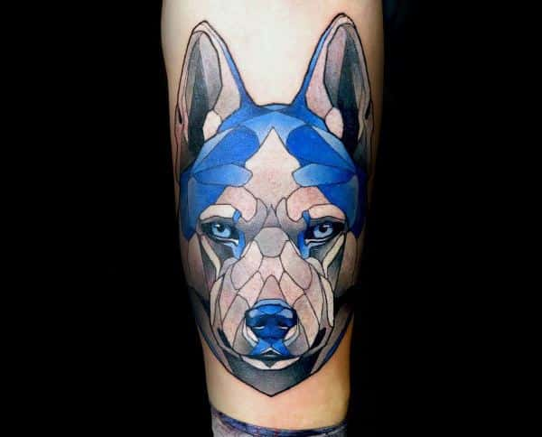 Siberian Husky Tattoos For Gentlemen