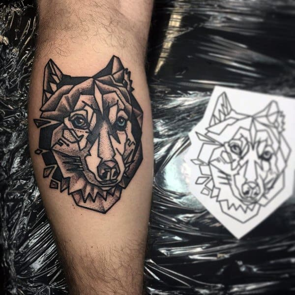 Siberian Husky Themed Tattoo Ideas