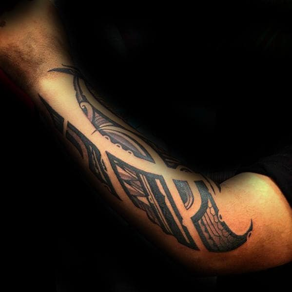 Sick Arm Tribal Tattoo Design Ideas For Males