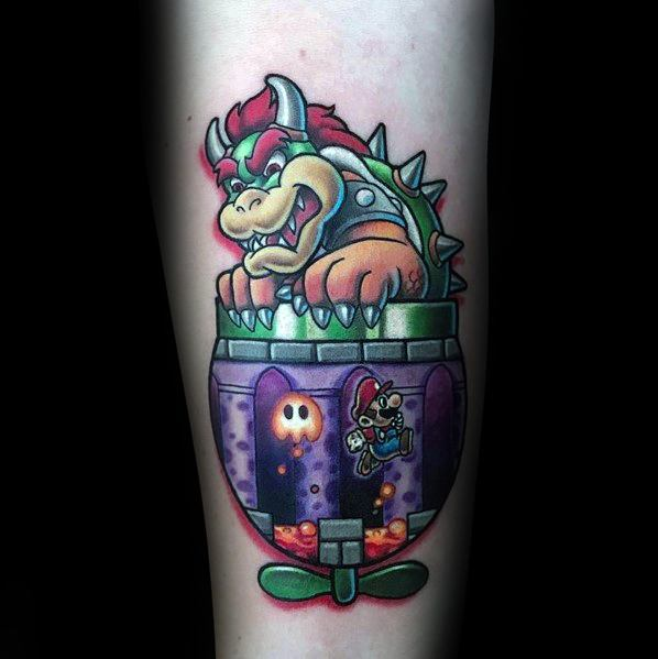 Sick Guys Bowser Themed Tattoos