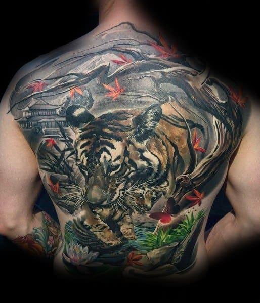 Sick Guys Cool Tree Themed Tattoos