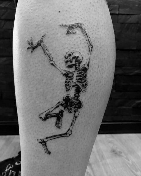 Sick Guys Dancing Skeleton Themed Tattoos