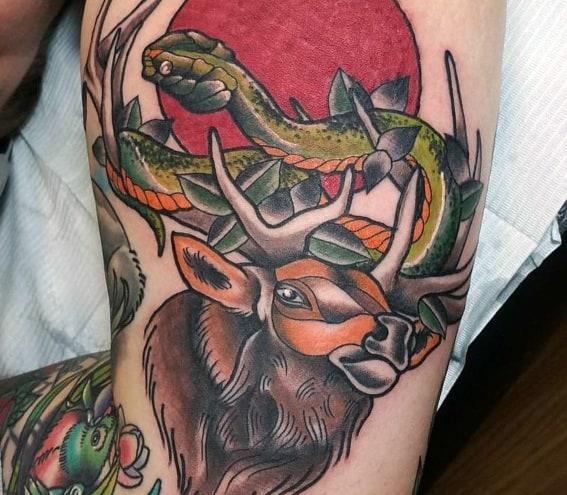 Sick Guys Elk Themed Tattoos