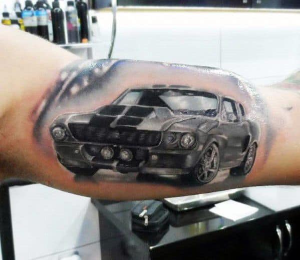 Sick Guys Ford Themed Tattoos