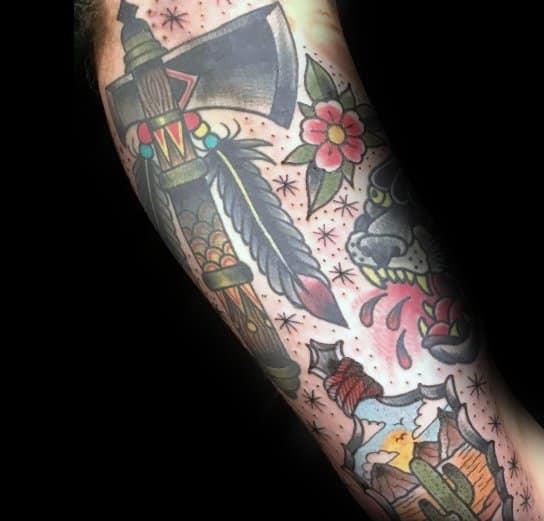 Sick Guys Hatchet Themed Tattoos