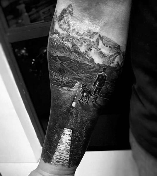 Sick Guys Hiking Themed Tattoos