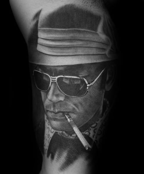 Sick Guys Hunter S Thompson Themed Tattoos