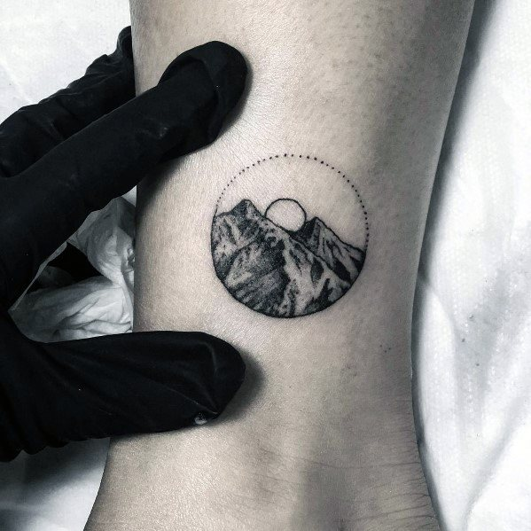 Sick Guys Minimalist Mountain Themed Tattoos