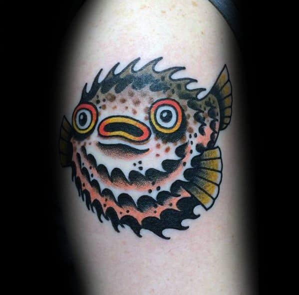 Sick Guys Puffer Fish Themed Tattoos